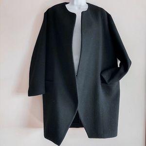 Everlane Cocoon Black Wool Coat Size 6 (Medium)